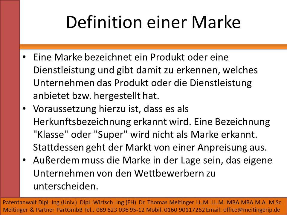 Definition einer Marke