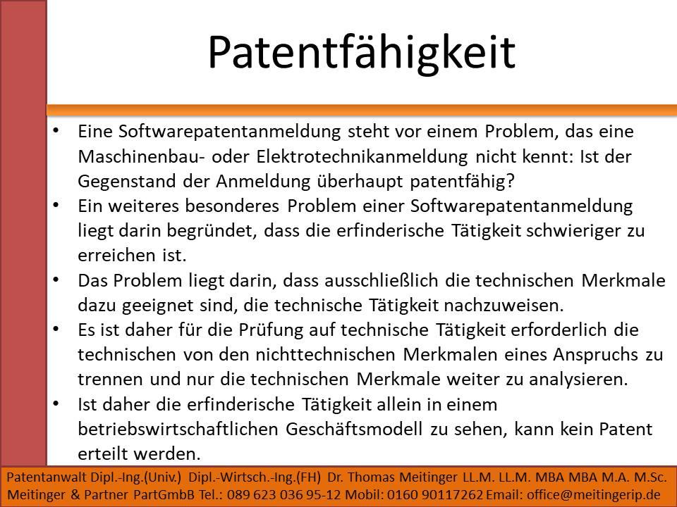 Patentfähigkeit