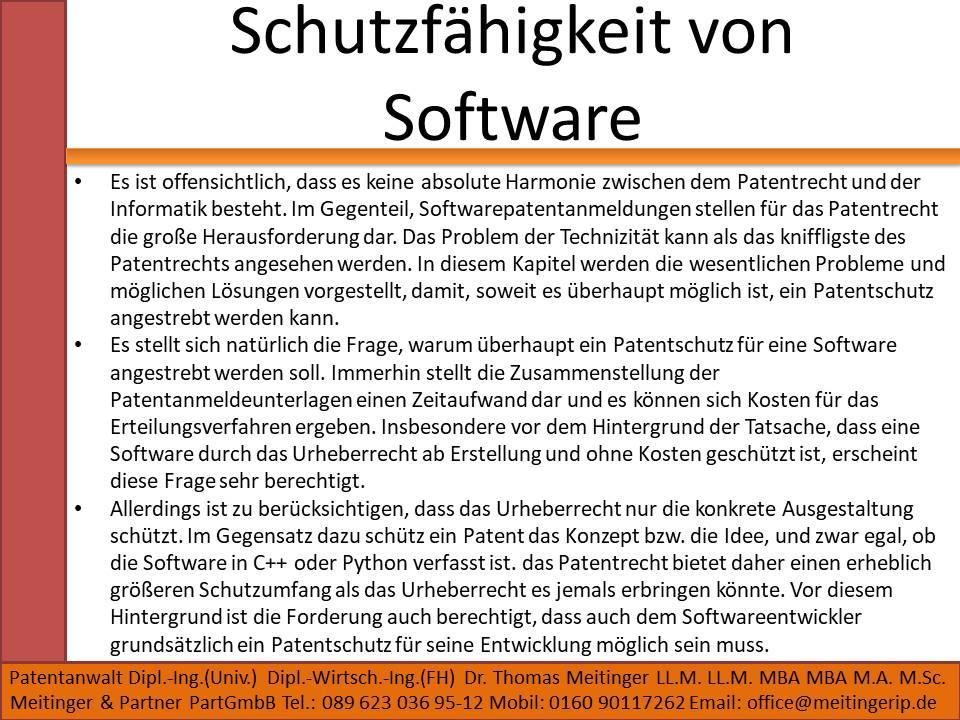 Schutzfähigkeit von Software