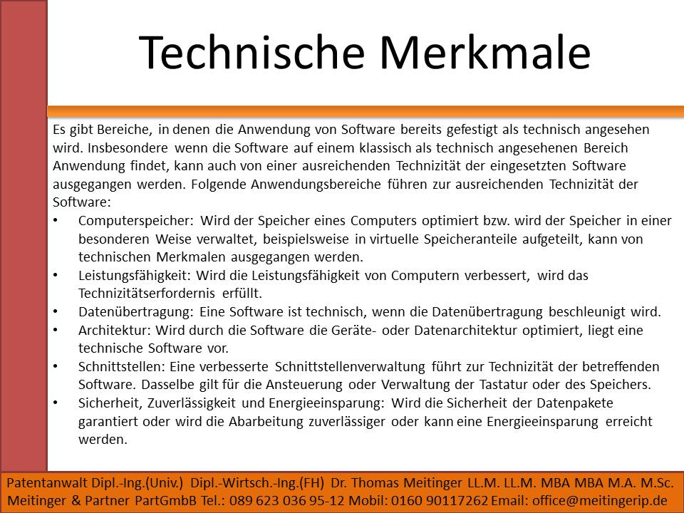 Technische Merkmale