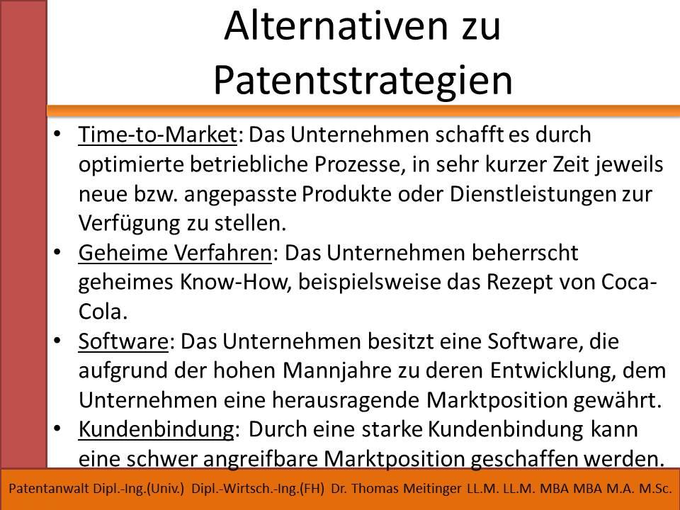 alternativen zu patentstrategien