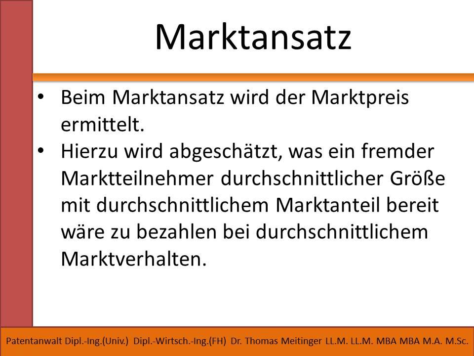 marktansatz