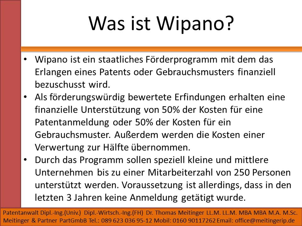 Was ist Wipano