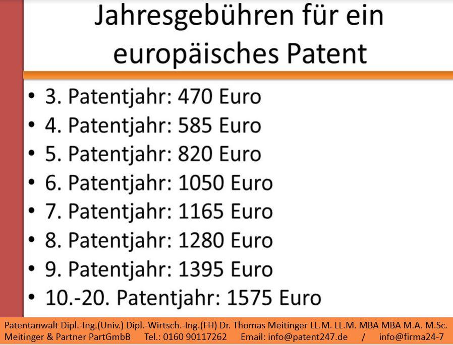 3_jahresgebühren des europäischen patentamts